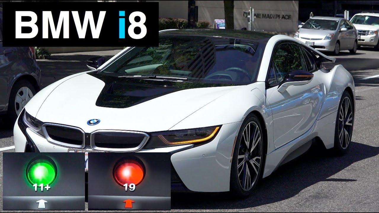 2015 Bmw I8 Test Drive Predicting Traffic Lights Youtube