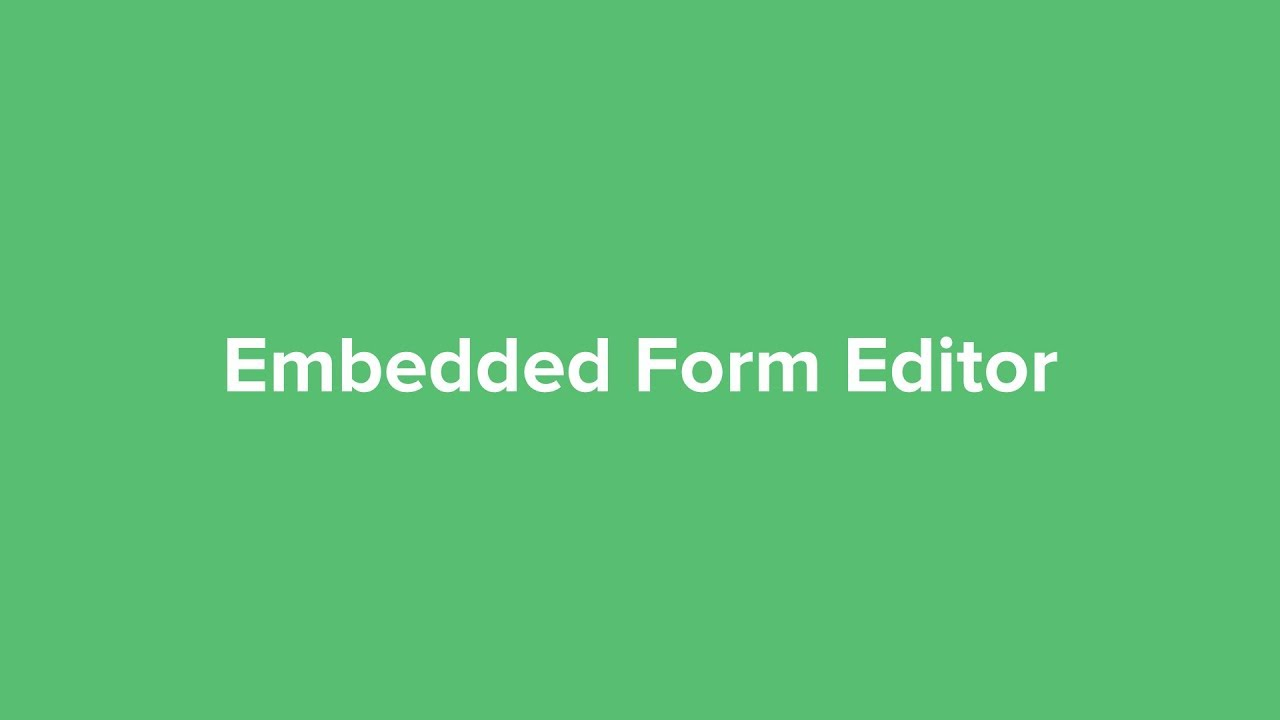 How to Use Embedded Form Editor - Video Tutorial - MailerLite