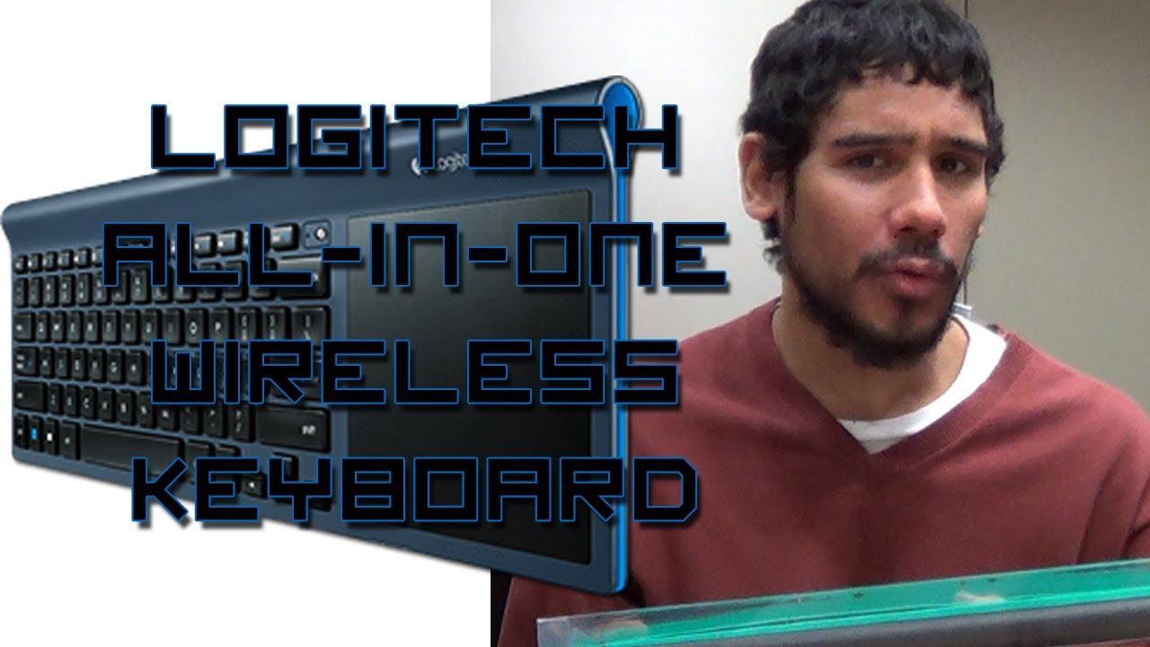 5ed9fa78b30 Logitech Wireless All-in-One Keyboard TK820 Review - YouTube
