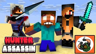 Monster School : HUNTER ASSASSIN CHALLENGE - Minecraft Animation