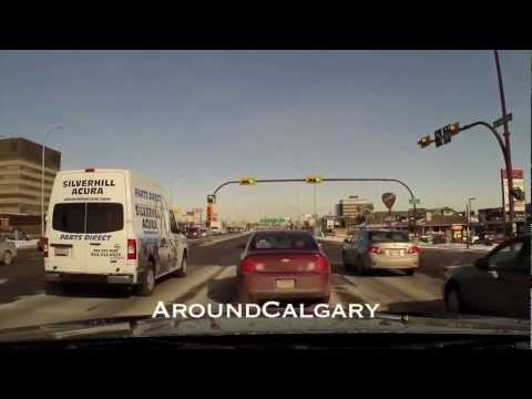 Driving Calgary South Macleod Trail to Downtown
