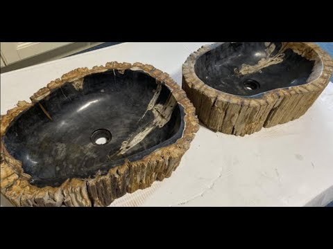 Petrified Wood Sinks Rustic Bathroom Youtube