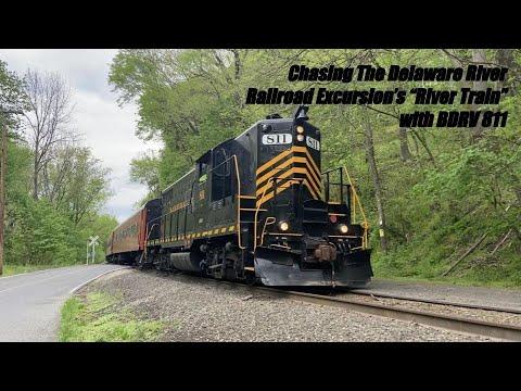 "Chasing The Delaware River Railroad Excursion's ""River Train"" with BDRV 811 5/2/21"