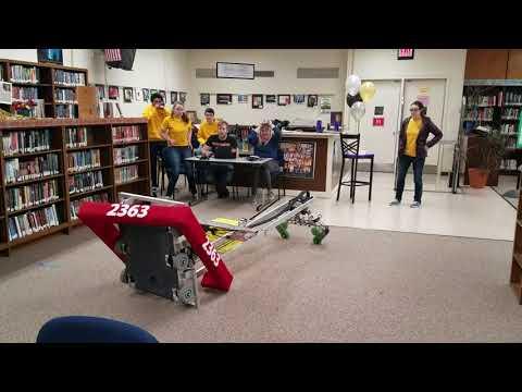 FRC 2363 Triple Helix 2018 Robot Reveal Video