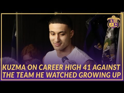 Lakers Post Game: Kyle Kuzma Scores Career High 41 Pts on the Pistons, The Team He Grew Up Watching
