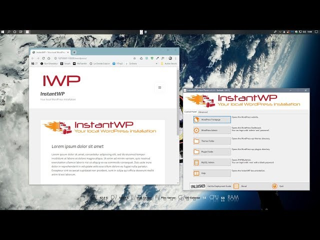 Installer WordPress en local avec InstantWP sur Windows 10