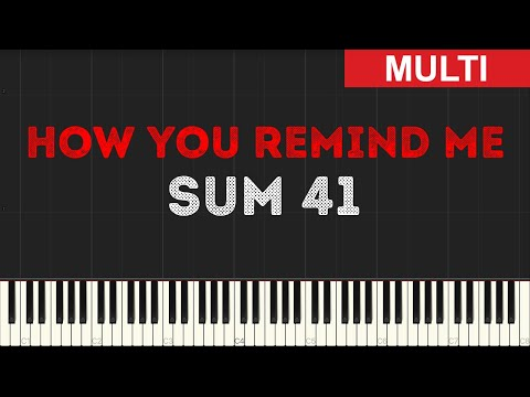 Sum 41 - How You Remind Me (Instrumental Tutorial) [Synthesia]