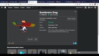 Cinco De Meowo And Sombrero Dog   Roblox Cinco De Mayo