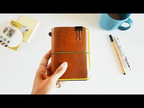 (Midori) Traveler's Notebook Passport Size- Wallet Setup