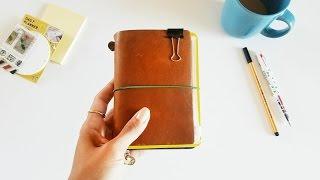 (Midori) Traveler's Notebook Passport Size- Wallet Setup