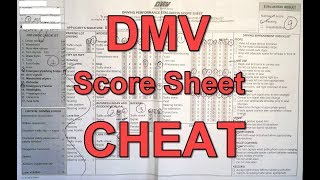 Actual DMV Dash Cam Drive Test and Eval Score Sheet Walk through Includes Cheats, Tips and Tricks