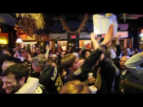 Crowd goes wild after Porter Interception in Super Bowl