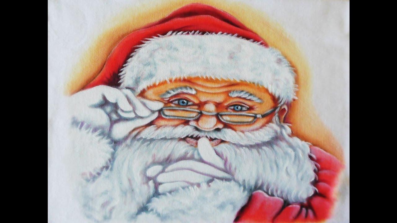 Pintura Tema De Natal Papai Noel Youtube
