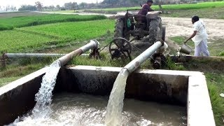 Dual Pump  Shaft System Tube Well with Massey 135 agriculture in Punjab