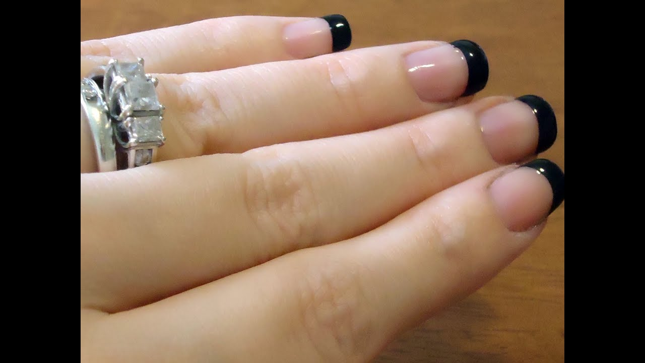How to do french tips at home diy perfect french tip manicure youtube solutioingenieria Choice Image