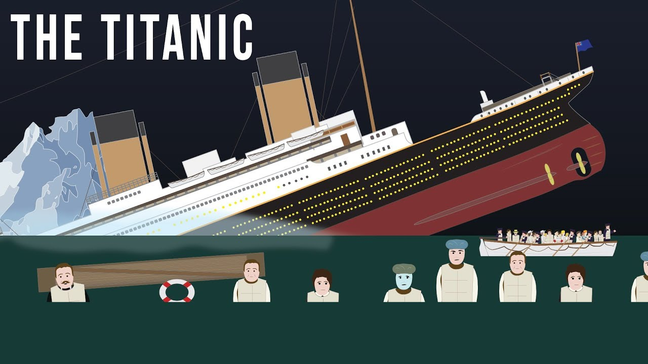hight resolution of sinking of the titanic 1912