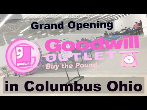 FIRST GOODWILL OUTLET STORE IN COLUMBUS OHIO   Shop With Me/Thrift Haul