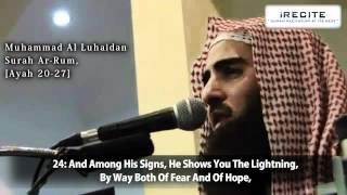 Mohammed Al-Luhaidan - Surah Rum (v20-27) || 1080pᴴᴰ