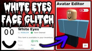 How to get white eyes on your roblox avatar!