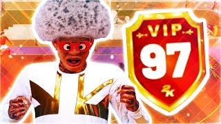 HITTING 97 OVERALL REACTION - WORLDS BEST 2K PLAYER EVER HITS 97 OVERALL - NBA 2K19