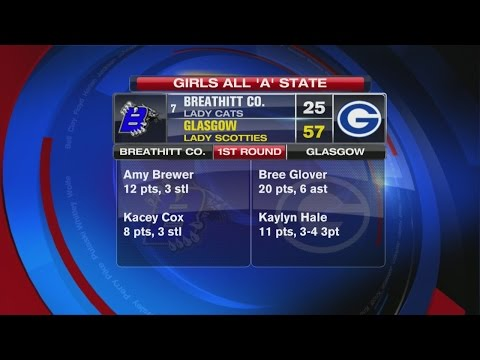 Girls All 'A' State First Round - Glasgow vs. Breathitt County