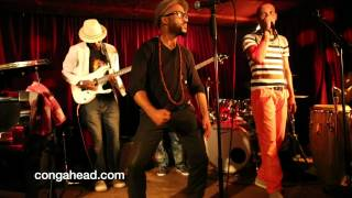 Congolese, Isaac Katalay brought his soukous band to The Zinc Bar