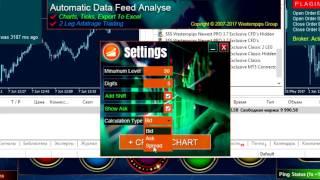 2 legs арбитраж: торговля спредом и анализ котировок в программе Westernpips Analyser 1.3