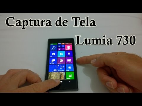 Nokia Lumia 730 - Como Tirar ScreenShot [Captura de Tela]