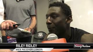 Georgia wide receiver Riley Ridley talks about G-day