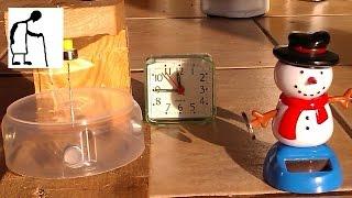 Solar Snowman Magnet Motor in the Sunlight - Time Lapse