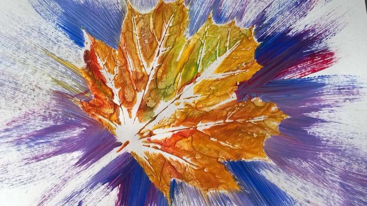 Leaf Printing Rainy Day Craft Ideas Youtube