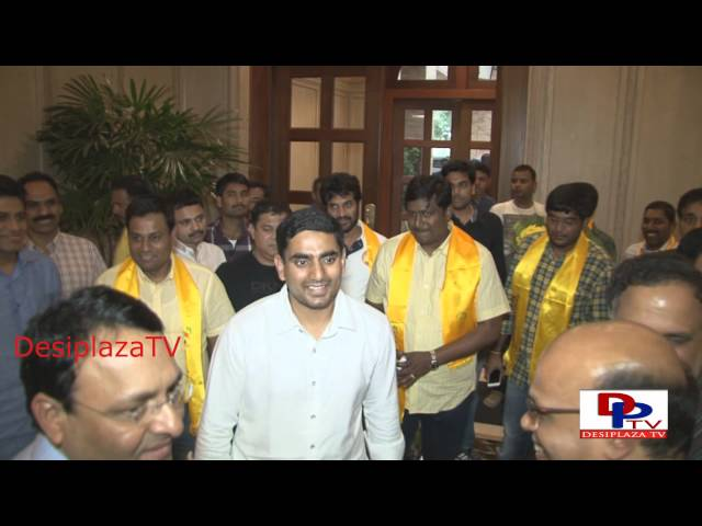 NARA Lokesh arrives in Dallas, Texas, USA