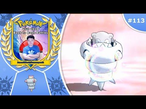 """Slow and Steady Wins"" Pokémon Ultra Sun & Moon VGC 2018 Baek to Baek Battles - Episode 113"