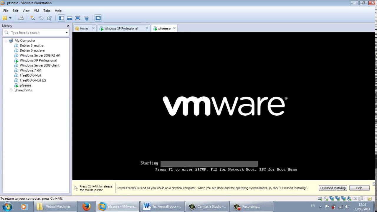 how to install pfsense in vmware