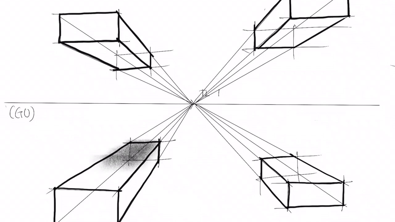 Lakaran Perspektif 1 Titik Youtube