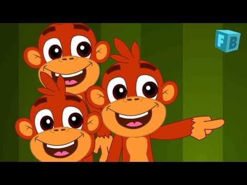 Five Little Monkeys Jumping On The Bed | Children Nursery Rhyme | Kids Songs