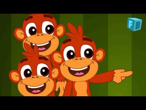 Five Little Monkeys Jumping On The Bed | Children Nursery Rhyme | Songs