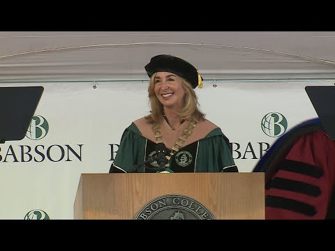Babson College's 2017 Graduate Commencement Ceremony