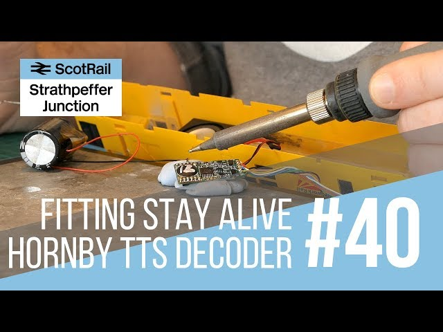 #40 Part 2: Fitting a Stay Alive Capacitor Unit to a Hornby TTS Sound Decoder