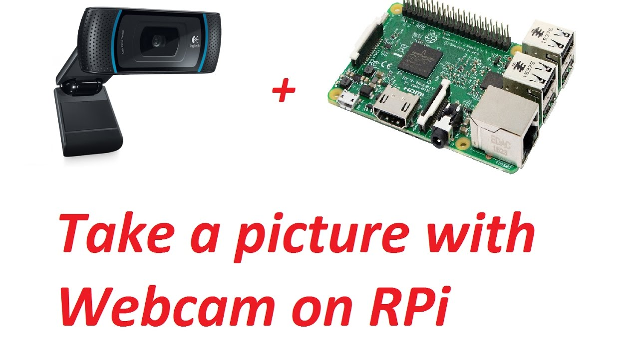 How to take a picture with Webcam on Raspberry Pi - YouTube