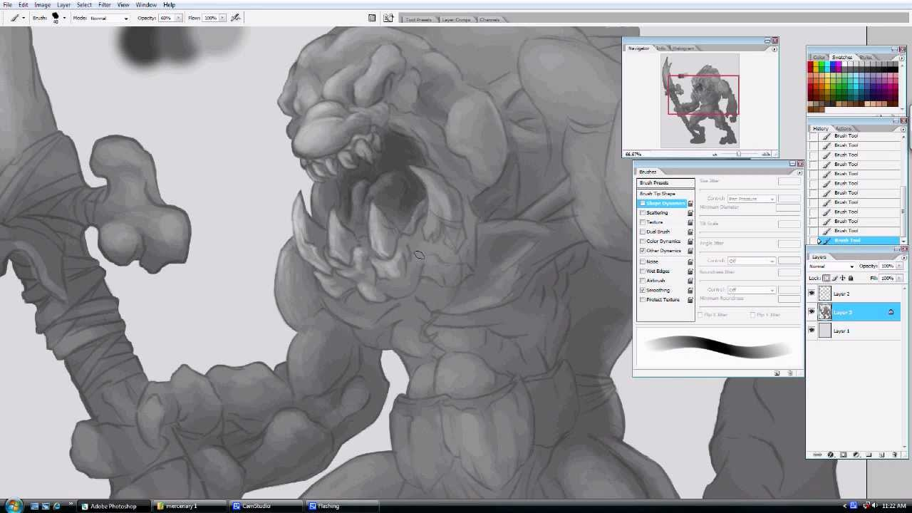 how to draw concept art in photoshop