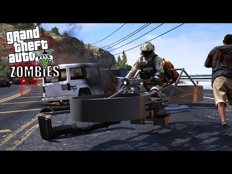 GTA 5 - ZOMBIES VS MARINA ARMADA DE MÉXICO-EP#9 |ENCONTRAMOS BASE|EdgarFtw thumbnail
