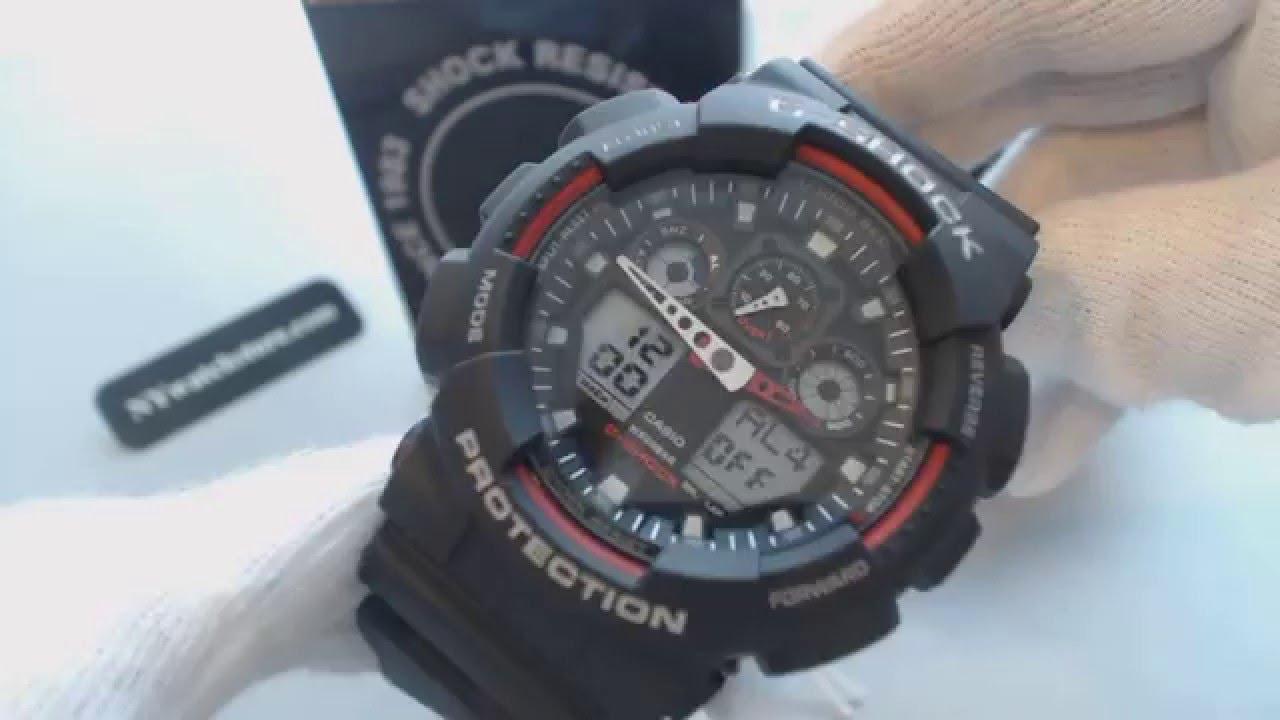 43e95cd939dd Casio G Shock Analog Digital Black XL Watch GA100-1A4 - YouTube