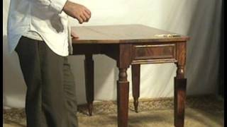 Ohio's Old Wood Market  Mahogany 1800s Gateleg Table Bu56