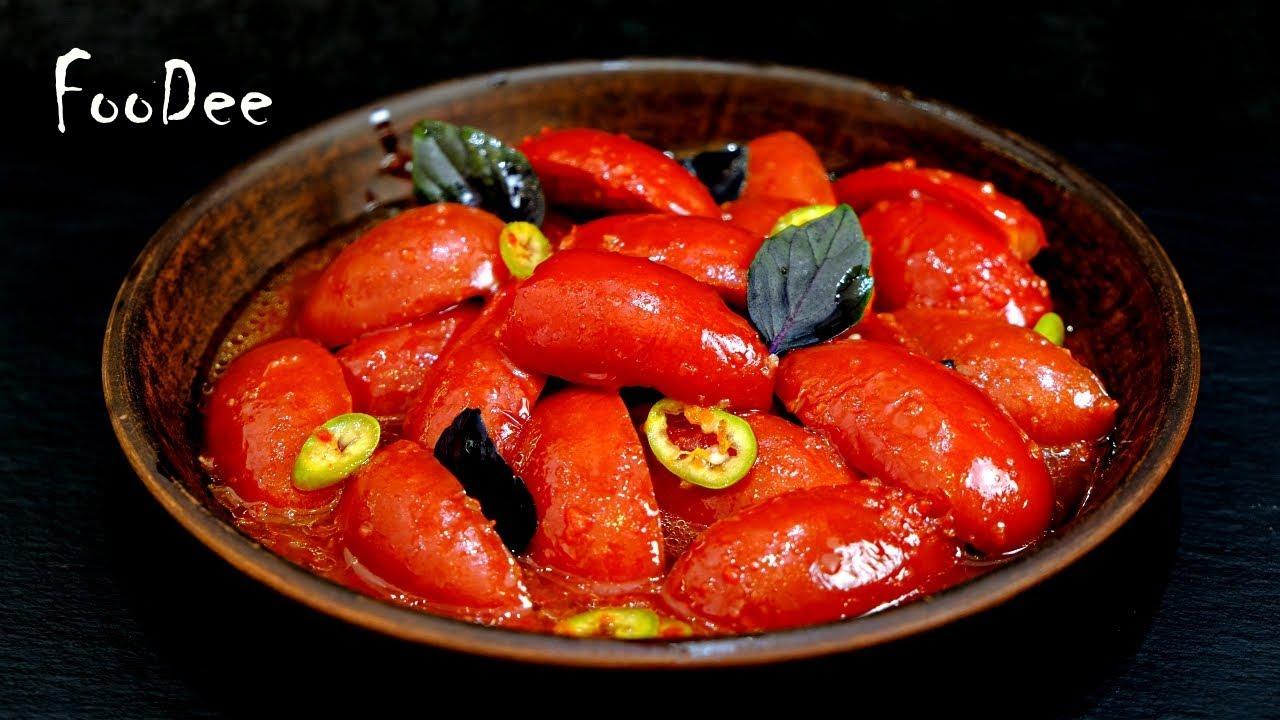 Главная фишка МАРИНАД - Пикантные маринованные помидоры! Закуска из помидоров