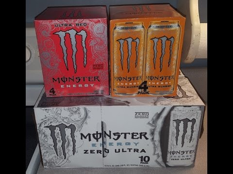 Monster Zero Calorie Drinks Review