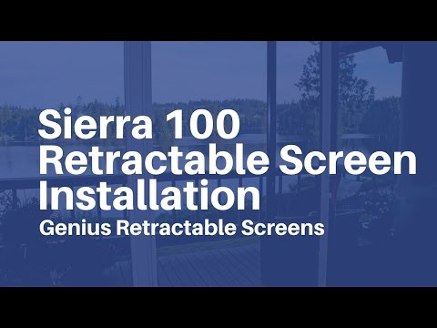 Genius retractable screens sierra 100 screen for Genius retractable screen