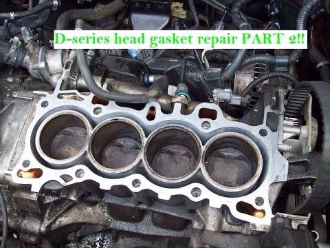 Head Gasket Replacement >> D Series Head Gasket Replacement Part 2 D16y7 D16y8