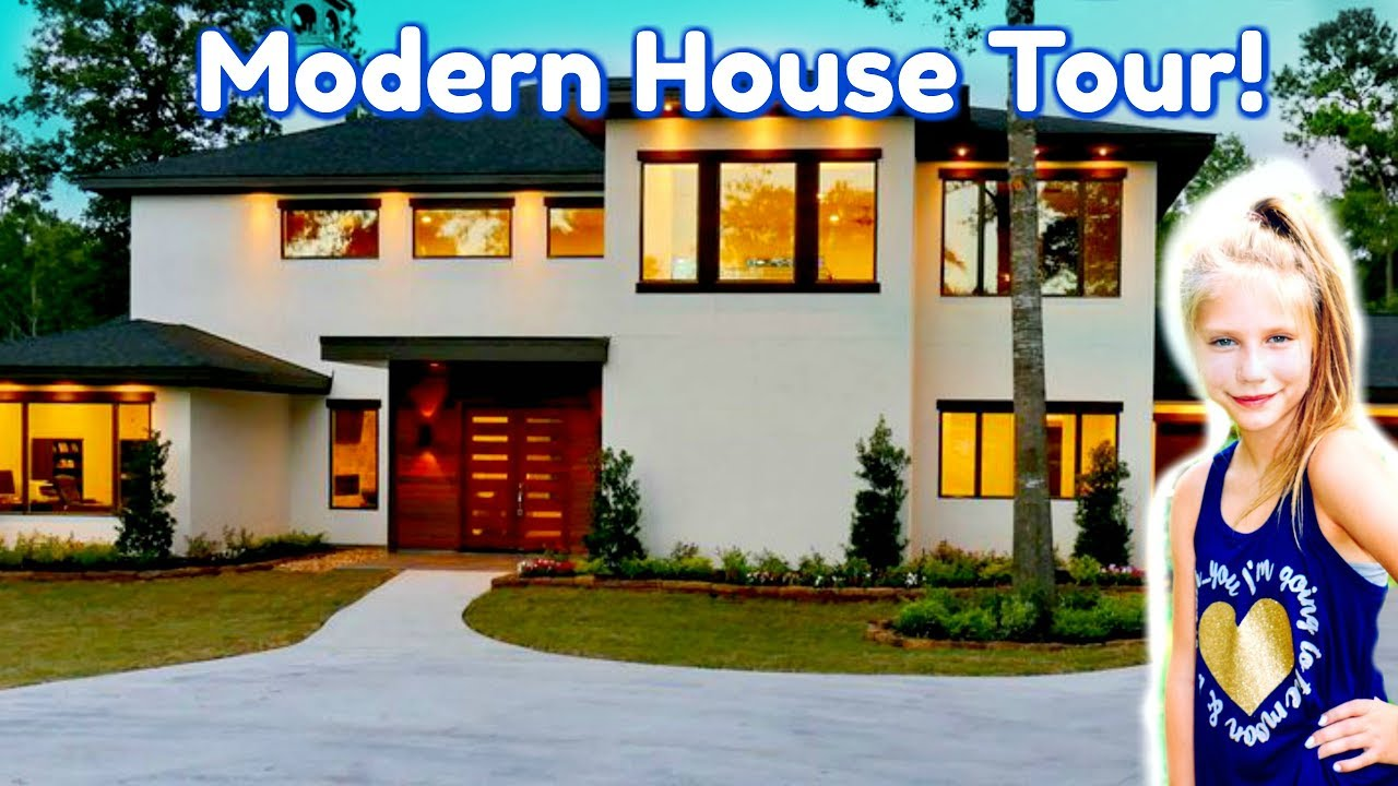 New Modern House Tour! $1,000,000 Custom House Tour for Kids, Family, Fun