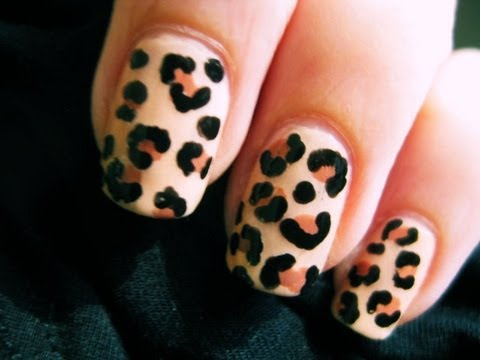 Leopard nail art youtube leopard nail art prinsesfo Choice Image
